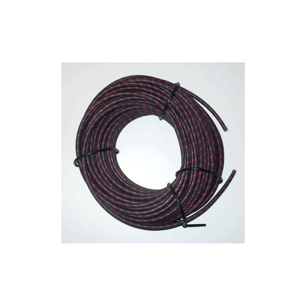 Svíčkový kabel - černočervený