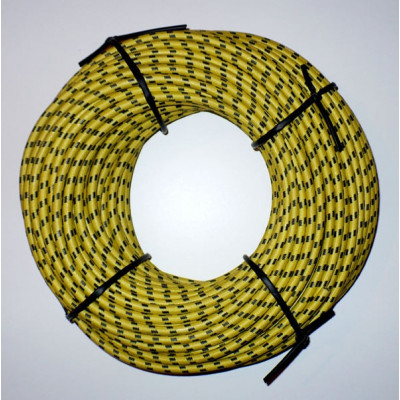 Svíčkový kabel - žlutočerný