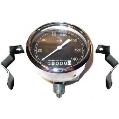 Tachometr Veigel 45° 140 km/h